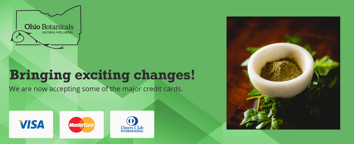 Now Accepting Major Credit Cards Banner