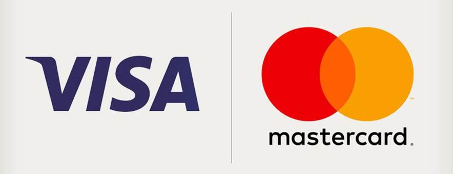 Accept VISA and Mastercard